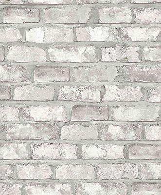Steintapete grau vlies  Tapete Vlies Grandeco Exposed Warehouse Klinker 3D Stein Mauer ...