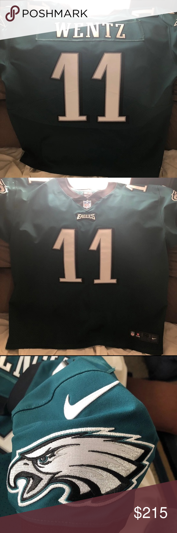 8a23f90e166 EAGLES CARSON WENTZ ELITE JERSEY Never worn Eagles Carson Wentz Elite Jersey!  Perfect condition! NFL Other