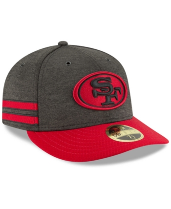the best attitude 00487 3080b New Era San Francisco 49ers On Field Low Profile Sideline Home 59FIFTY  Fitted Cap - Black