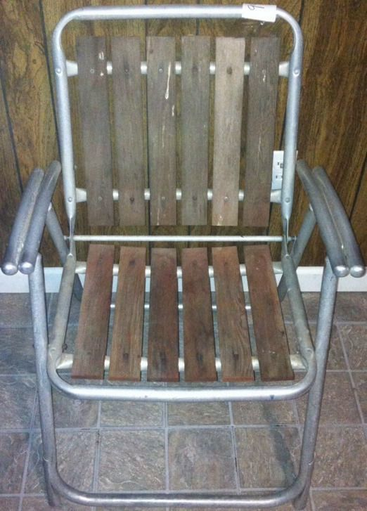 Aluminum & Wood Outdoor Lawn Folding Chair   Sku#999A
