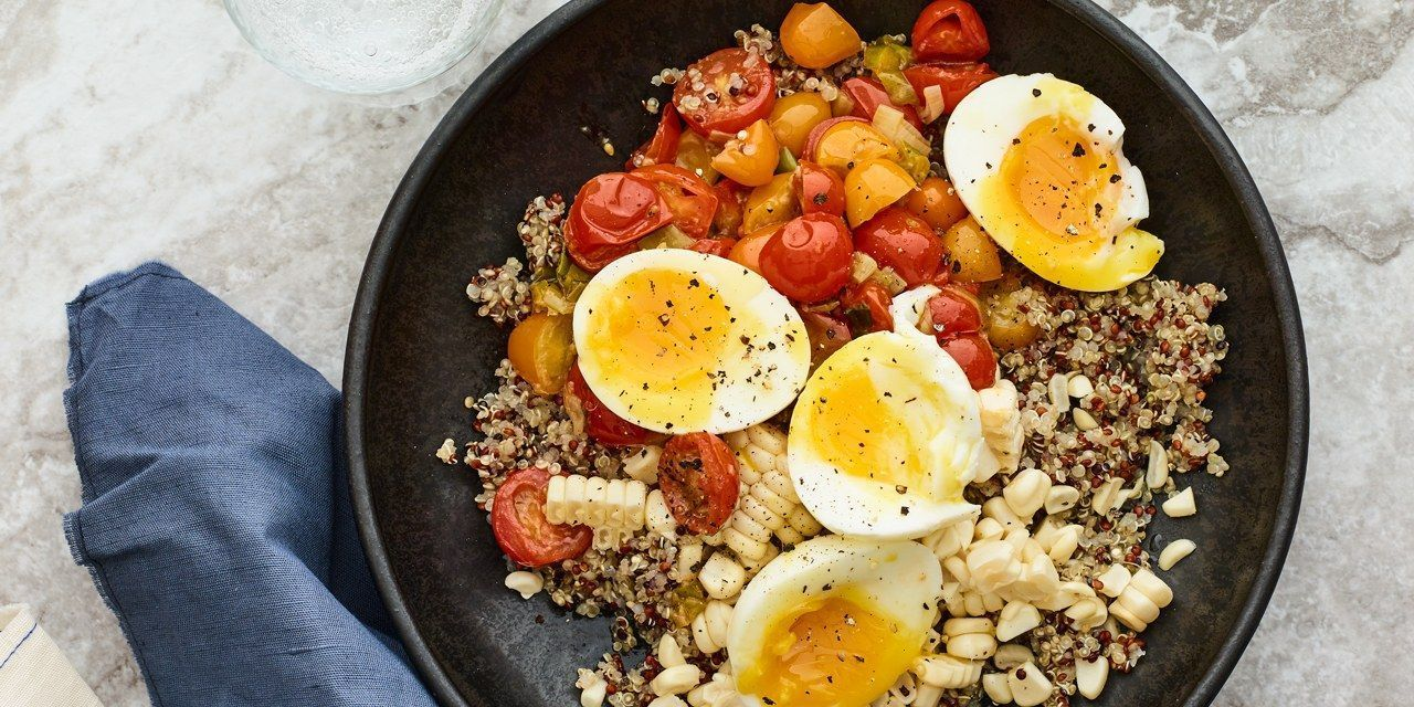 Quinoa Bowl With Sautéed Tomatoes and Scallion, Soft-Boiled Egg, and Corn #boiledeggnutrition Quinoa Bowl With Sautéed Tomatoes and Scallion, Soft-Boiled Egg, and Corn Recipe | SELF #boiledeggnutrition Quinoa Bowl With Sautéed Tomatoes and Scallion, Soft-Boiled Egg, and Corn #boiledeggnutrition Quinoa Bowl With Sautéed Tomatoes and Scallion, Soft-Boiled Egg, and Corn Recipe | SELF #boiledeggnutrition