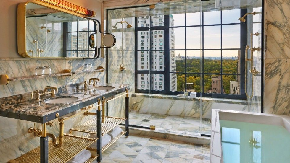 Luxury Marble Bathroom With View