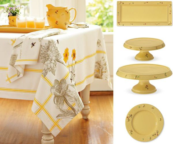 Honey Bee Tableware And Bee Tablecloth By Williams Sonoma. Kitchen  DecorationsBees ...