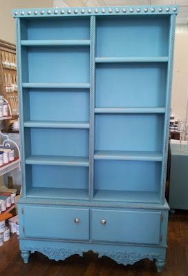 Book Shelf + hope chest in Provence Annie Sloan Chalk Paint