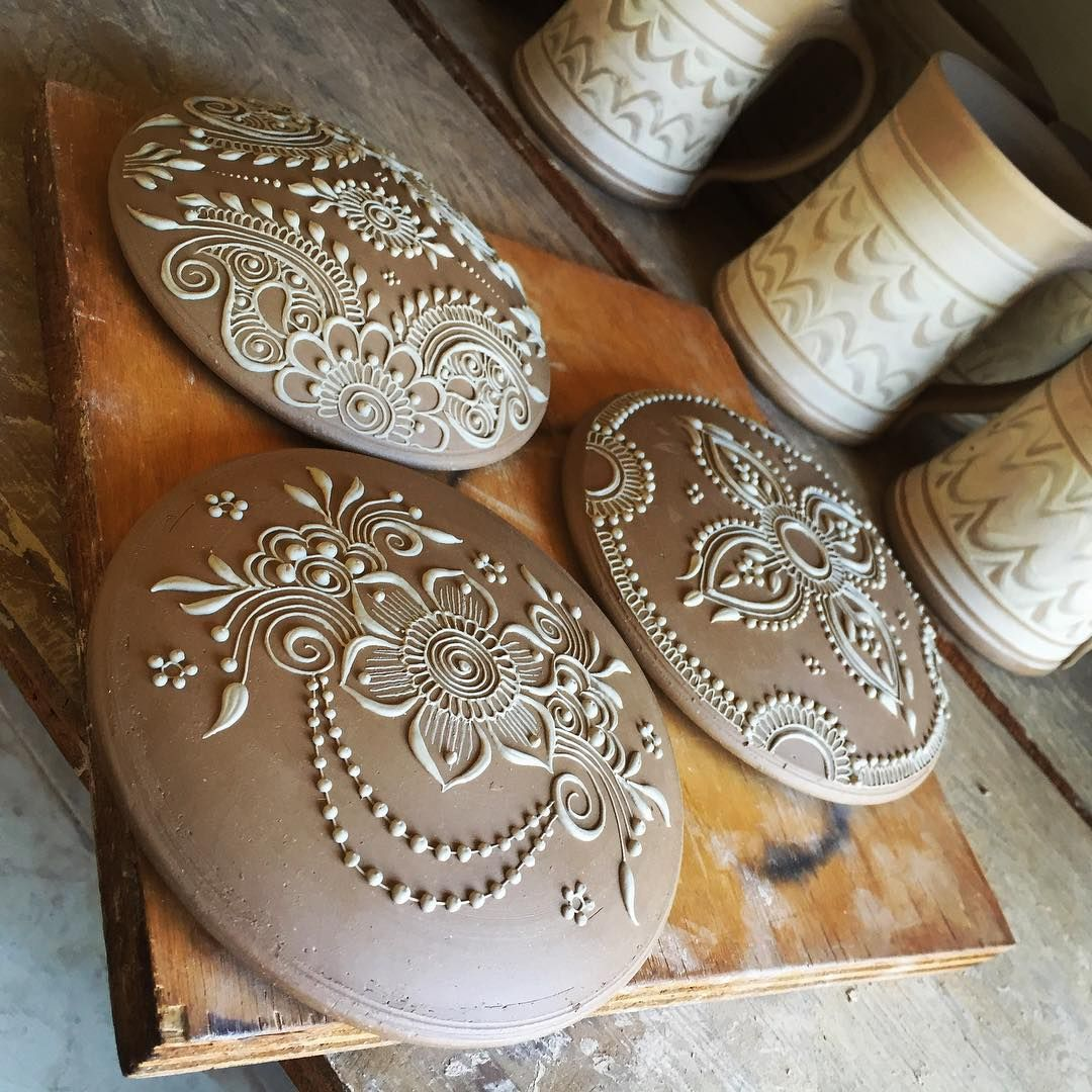 Henna By Leyla Shemesh: Two Of My Loves -beautiful Pottery And Beautiful Henna