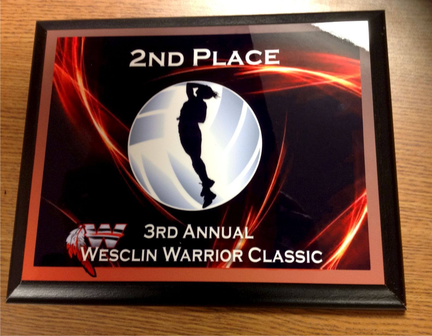 custom full color volleyball plaque