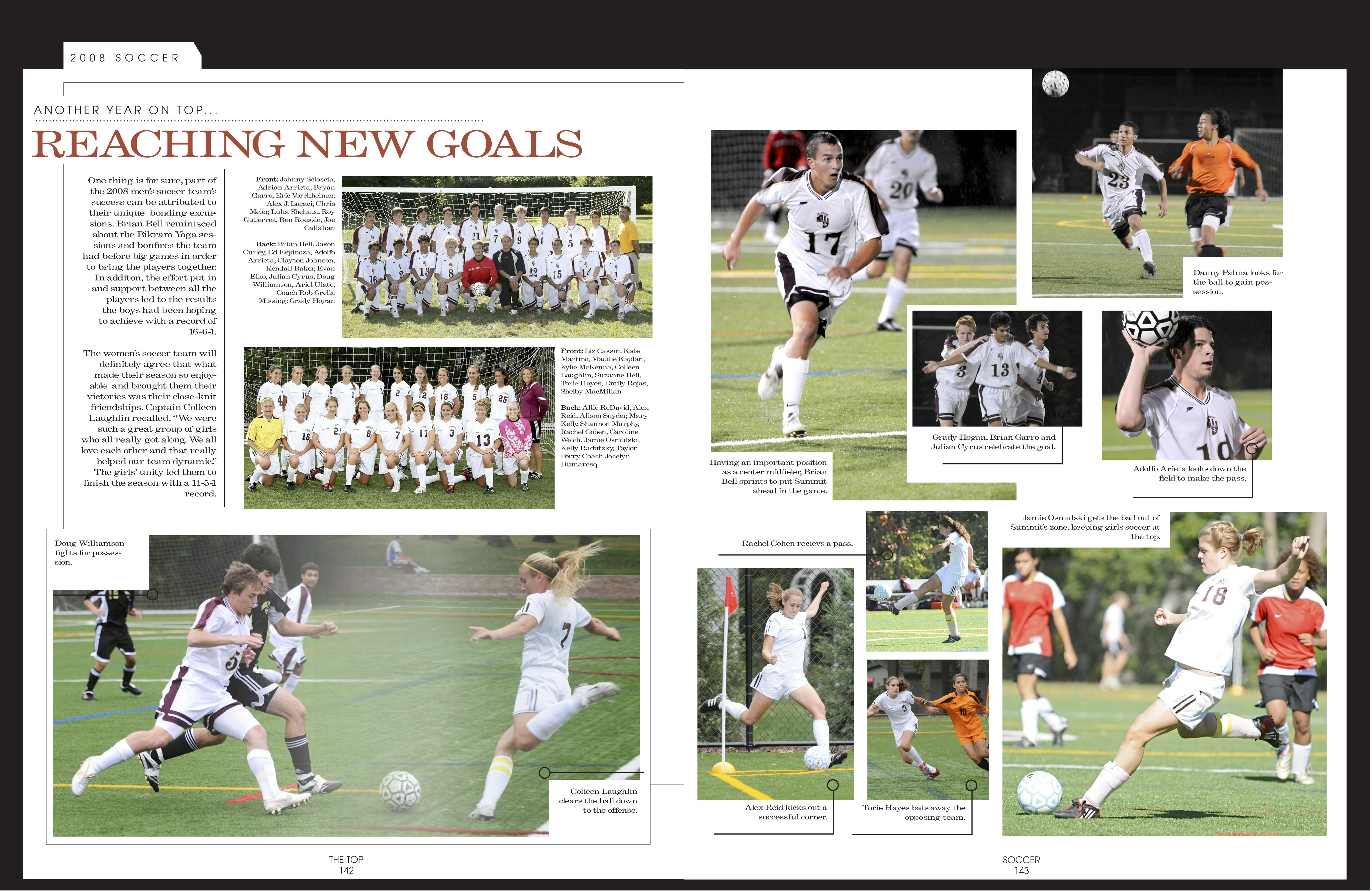 award winning soccer yearbook pages page layout pinterest