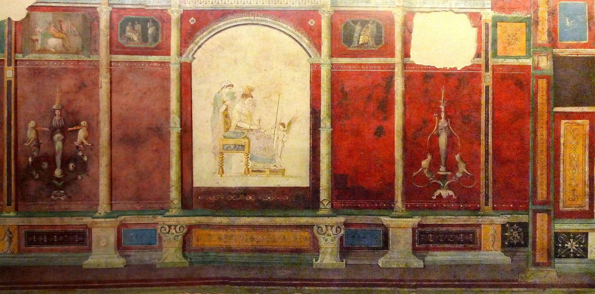 Römisches Freko aus der Casa della Farnesina Museo