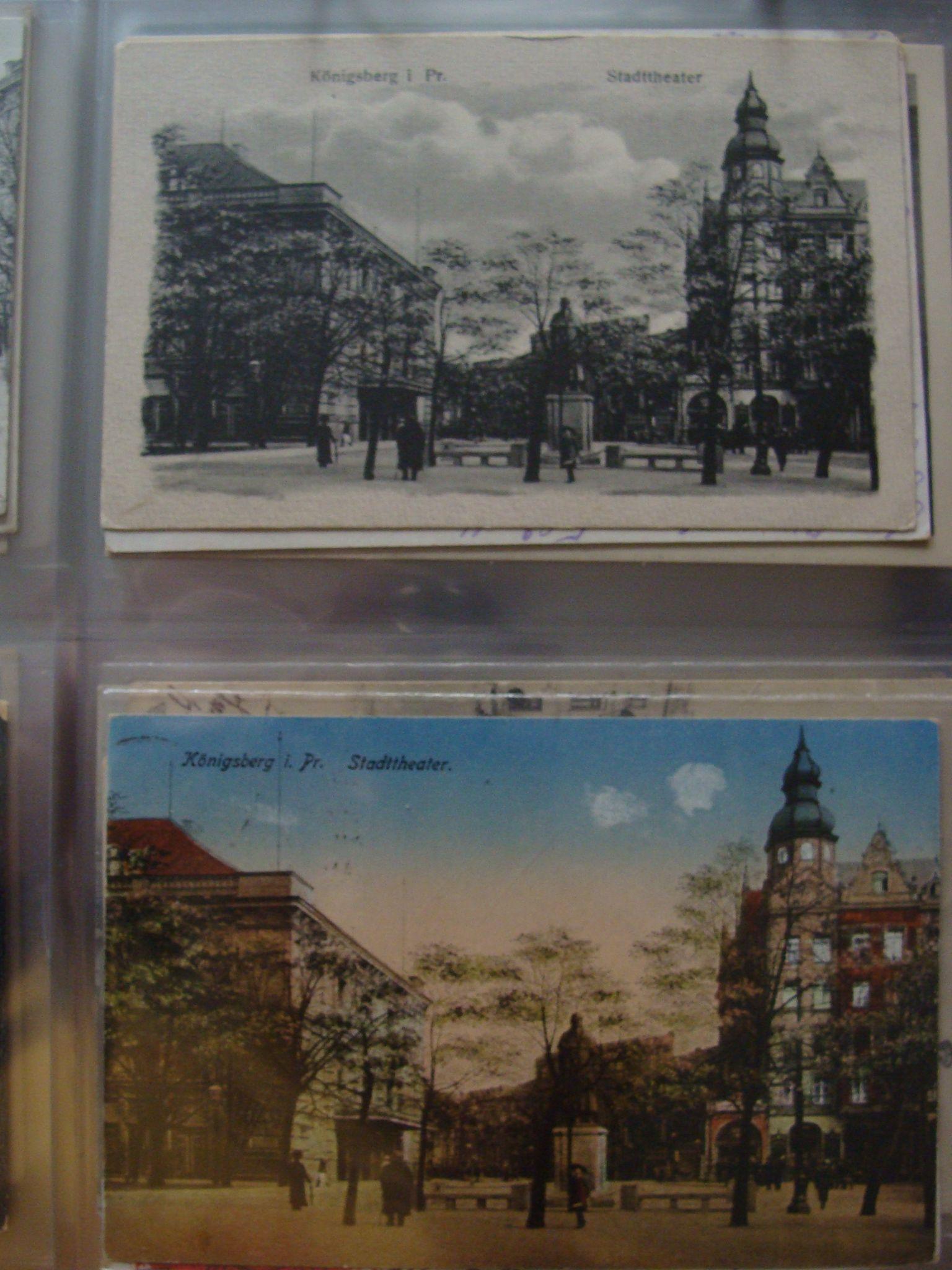 """Restaurant/ Hotel """"Centralhotel"""" in Königsberg,Die Große Schlossteichstraße führte vom Königsgarten am Paradeplatz zur Schlossteichbrücke."""