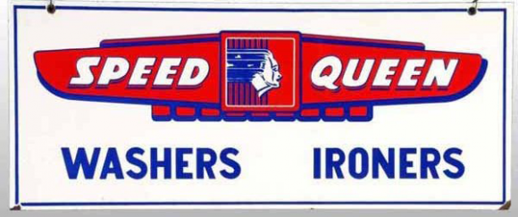 Speed Queen Washers Porcelain Sign Porcelain Signs Speed Queen Washer Porcelain Signs Speed Queen