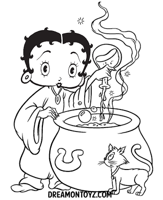 Access Denied Witch Coloring Pages Betty Boop Pictures Coloring Books