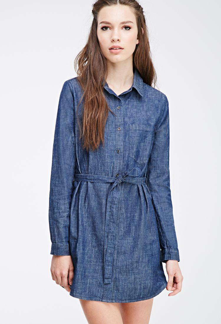 My Style | Denim shirt dresses, Denim shirt and Forever21