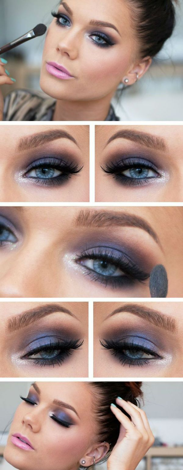 makeup smokey eyes f r blaue augen auge schminke und haar und beauty. Black Bedroom Furniture Sets. Home Design Ideas