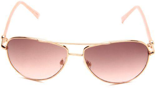 b2942d0760 Amazon.com  Steve Madden Womens S5187 RGLD Aviator Sunglasses