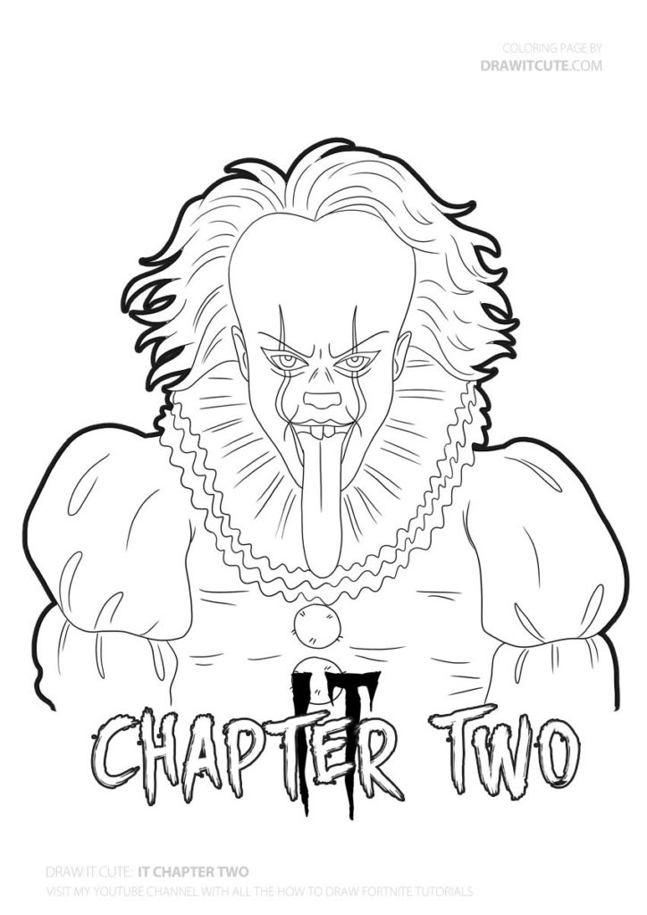 It Chapter Two Coloringpage Pennywisefanart Itchaptertwo Drawing Pennywisememes Pennywiseedits Pennyw Scary Coloring Pages Scary Drawings Coloring Pages