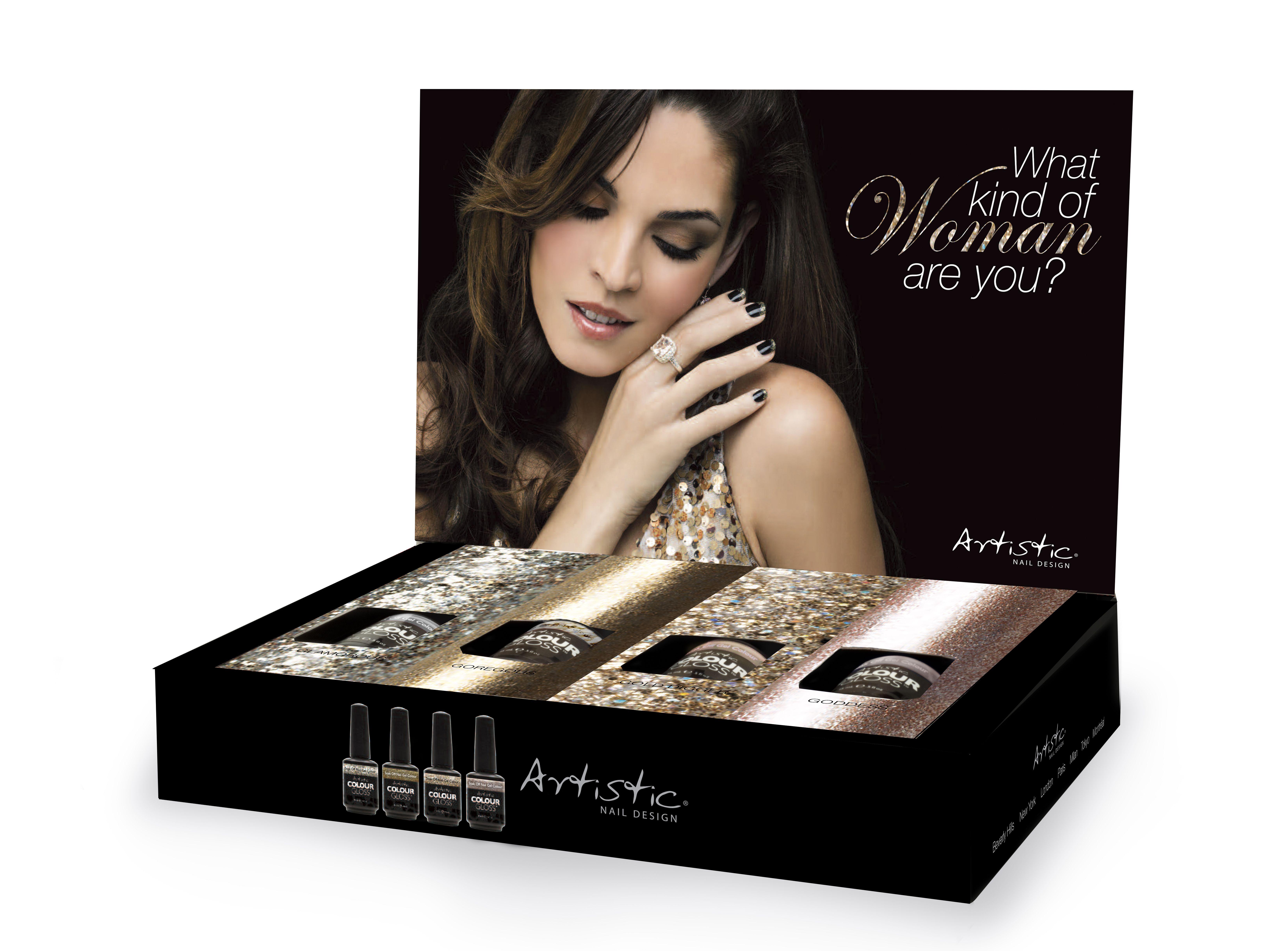 Holiday 2013 Display Artistic colour gloss, Nail designs
