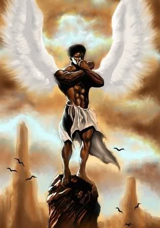 ANGEL OF MEDITATION-DION POLLARD | Black love art, Black angels ...