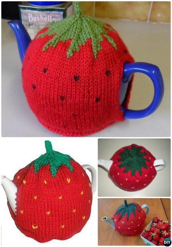 Knit Strawberry Tea Cosy Free Pattern-20 Crochet Knit Tea Cozy Free ...
