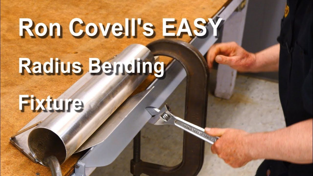 Making A Radius Bending Fixture For Sheetmetal Youtube Metal Bending Tools Metal Bending Metal Shaping