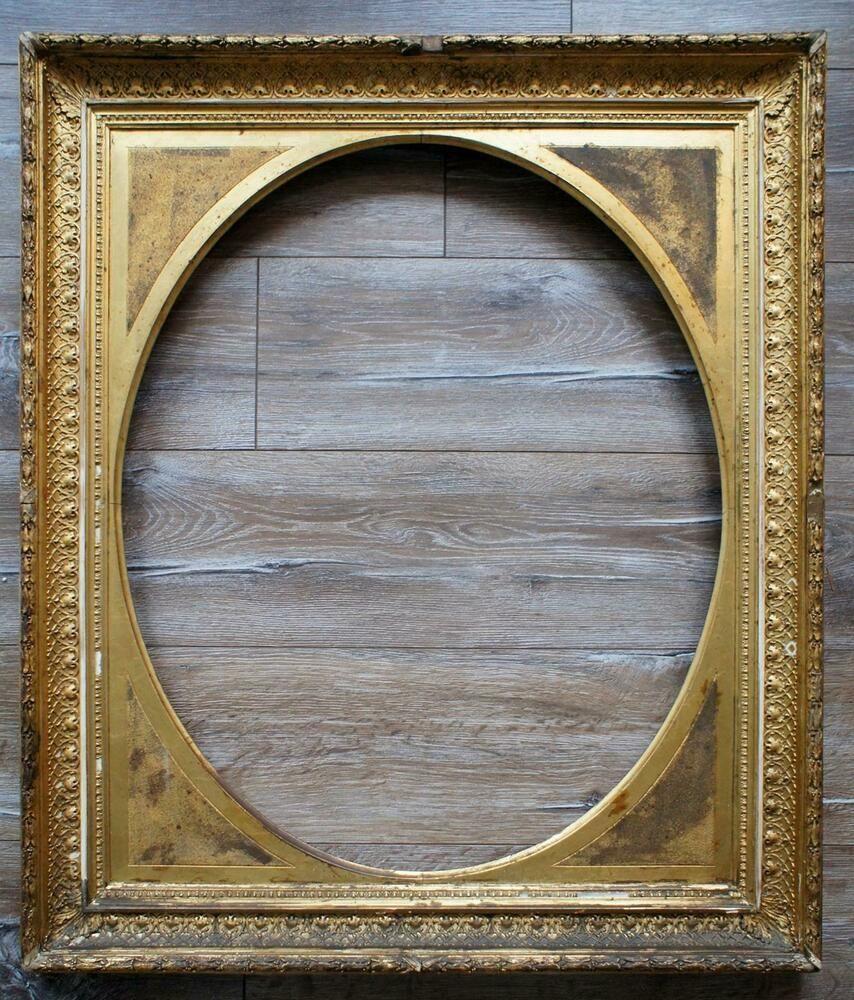 Musealer Vergoldeter Alter Bilderrahmmen Antiker Portrait Rahmen Unikat Bilderrahmen Rahmen Bilder
