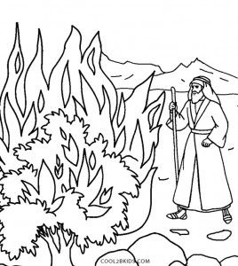 Moses And The Burning Bush Coloring Pages Coloring Pages Coloring Pages Inspirational Moses Burning Bush