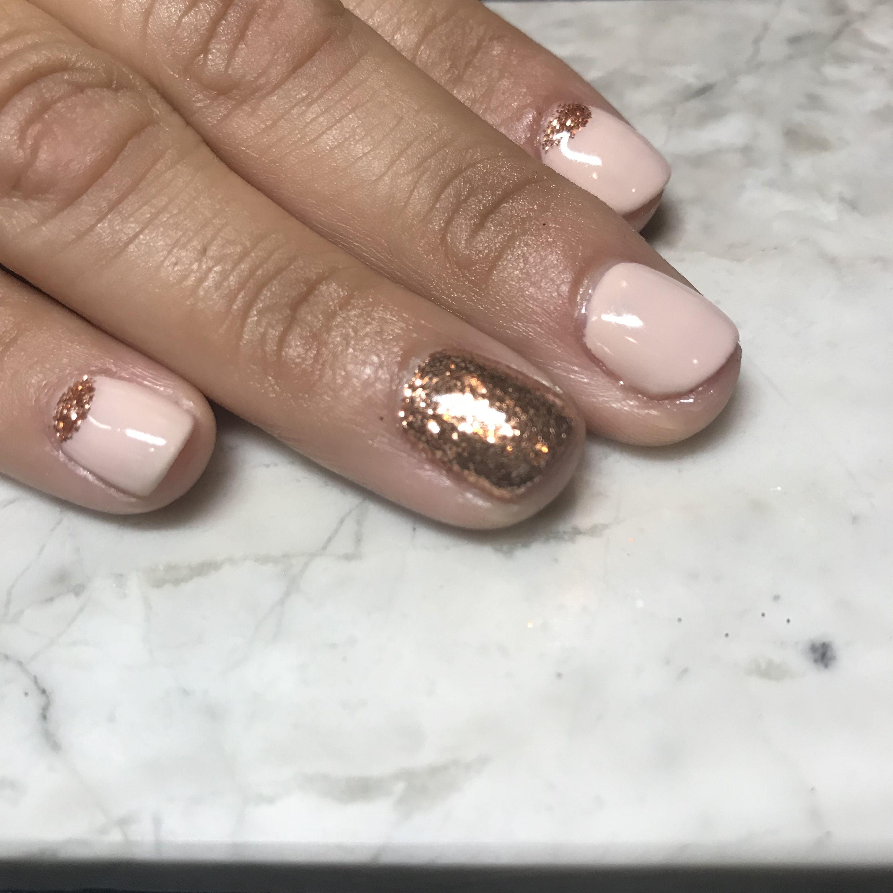 Gold Details By Diane Diaz Cnd Shellac Manicure Nail Art Cnd