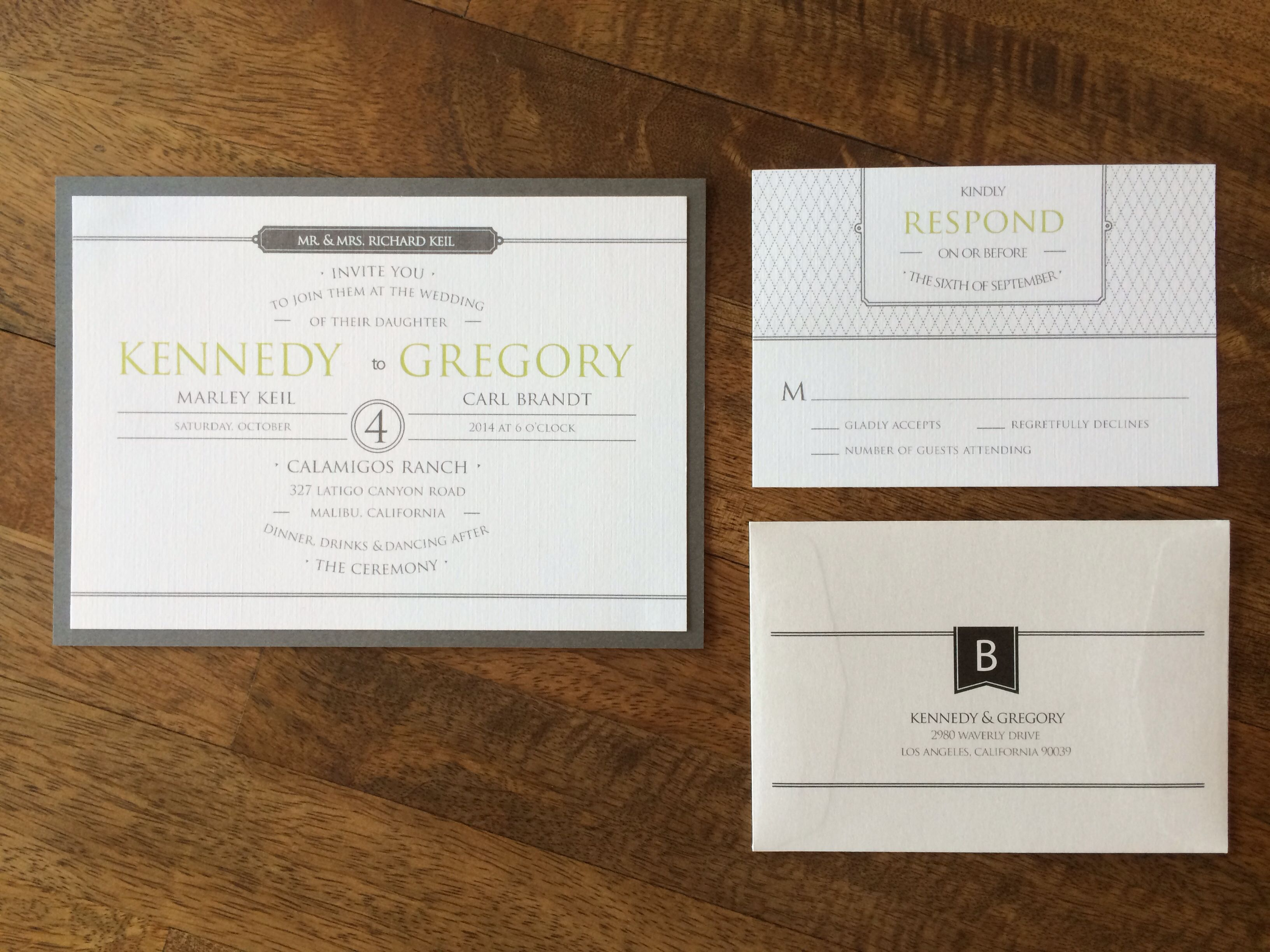 Modern style invitation design by I Do
