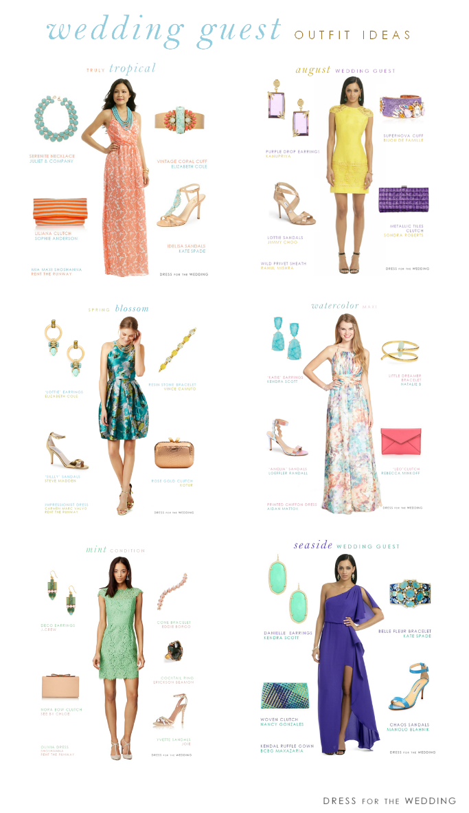 b8dc1f4a2354 The go-to Guide for Wedding Guest Outfits for 2015 via @dressforwedding .  10 ideas for wedding guest outfits, plus links for hundreds of wedding guest  ...