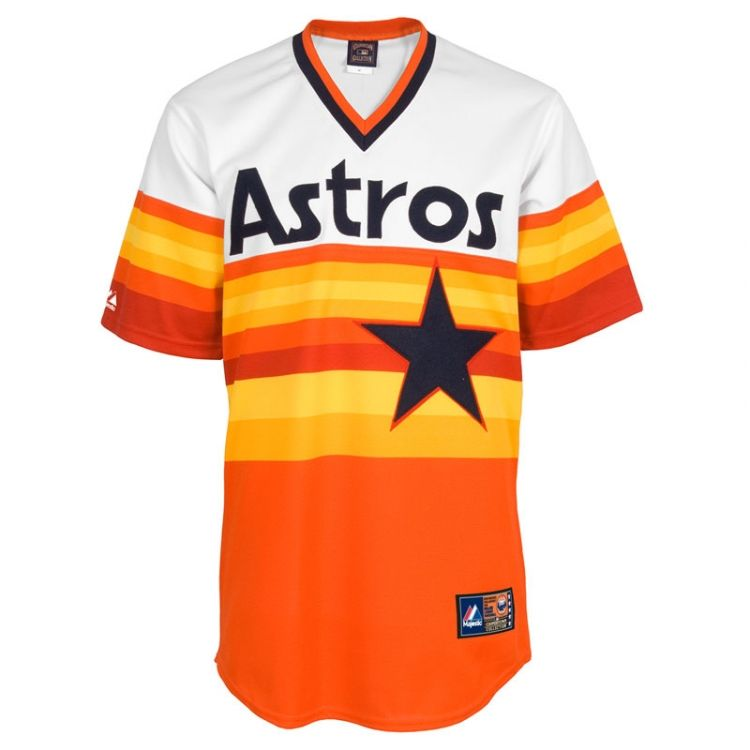 e2c35c18250 Ikes Baseball Houston Astros Rainbow Custom Cooperstown Replica MLB Jersey  - RETRO Throwback