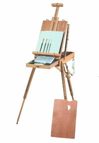 Martin Rivera Wooden Sketch Box Easel And Oil Painting Kit Art