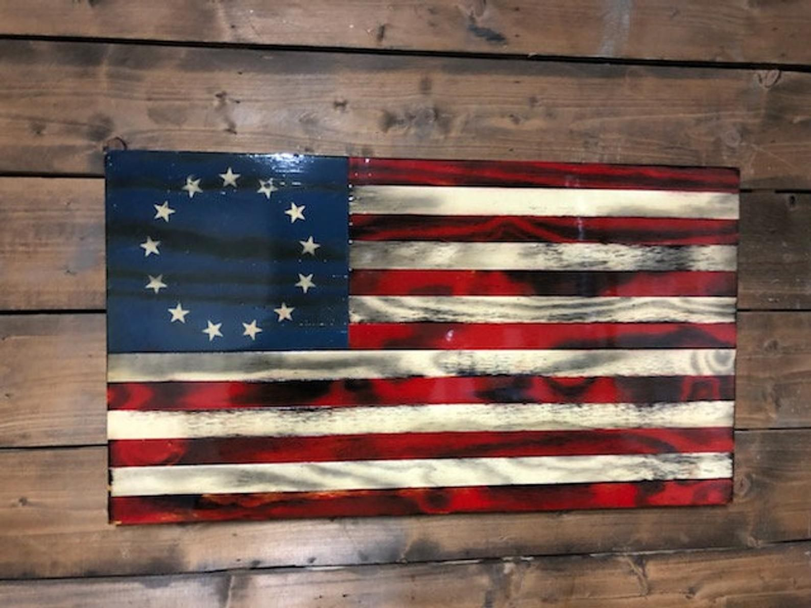 Betsy Ross Flag 13 Stars 1776 United States American Colonial USA FAST SHIP OHIO
