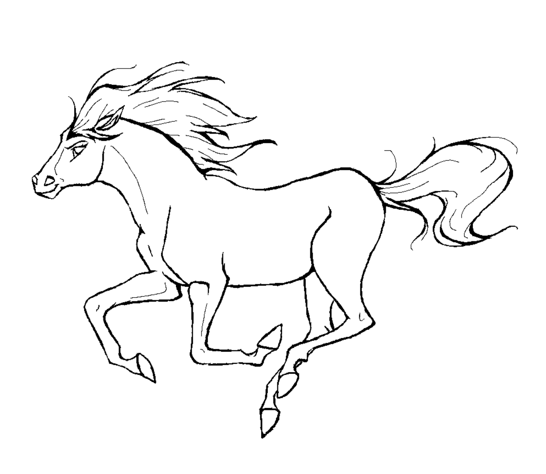 silhouette sympa | Coloriage cheval, Cheval galop, Cheval