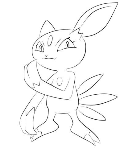 Sneasel Coloring Page Pokemon Coloring Pages Pokemon Sketch Pokemon Drawings