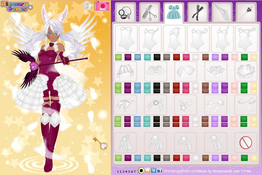 Rinmaru Games Anime Magical Girl Dress Up Game Outfit Generator Girls Dress Up Magical Girl
