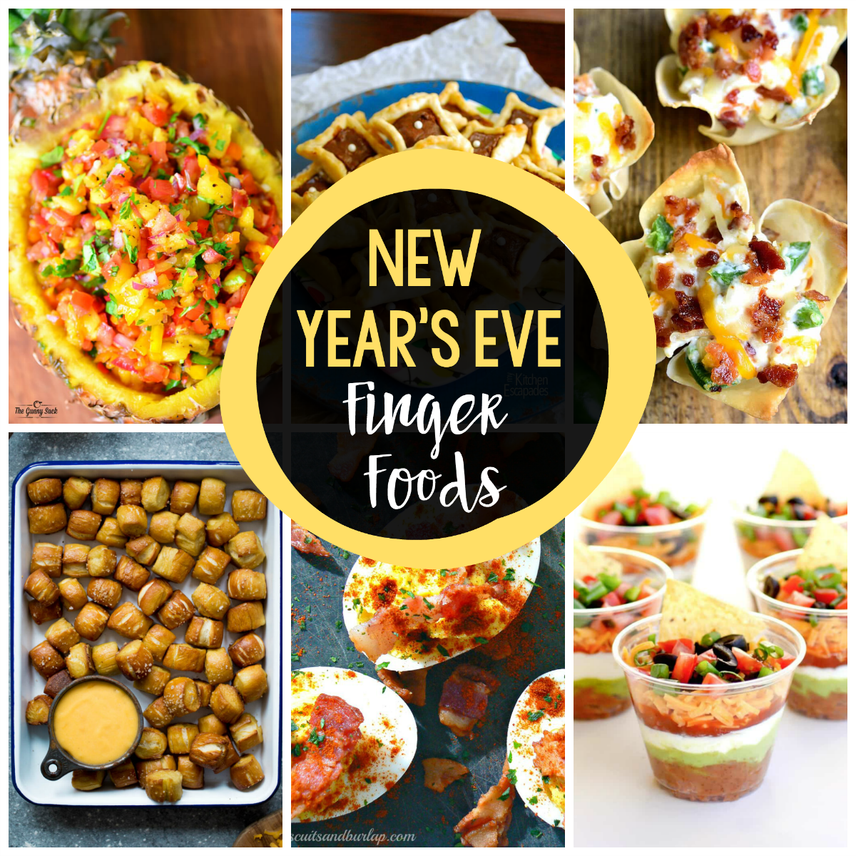 25 New Year's Eve Finger Foods New years eve snacks, New