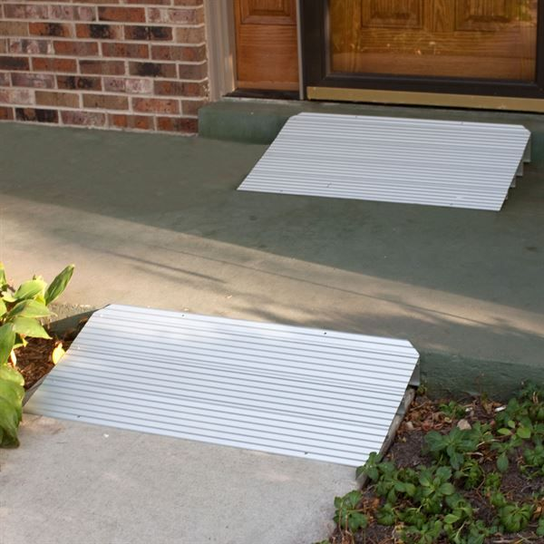 Silver Spring Aluminum Modular Self Supporting Threshold Ramp Wheelchair Ramp Handicap Accessible Home Wheelchair