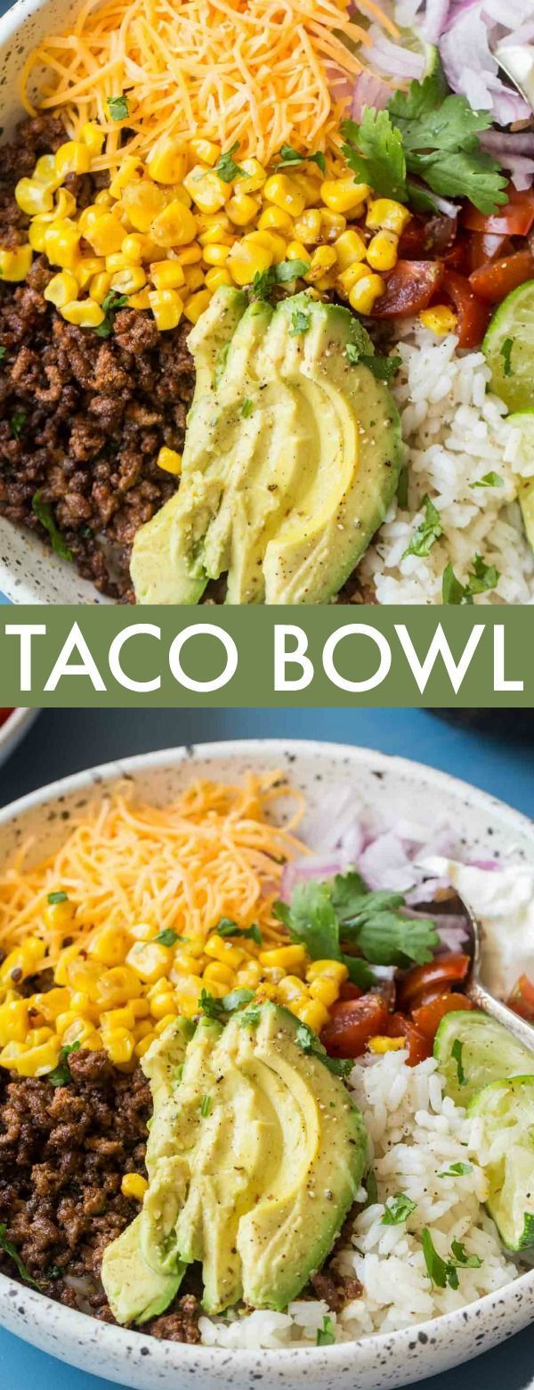Simple Taco Bowl Recipe - Valentina's Corner