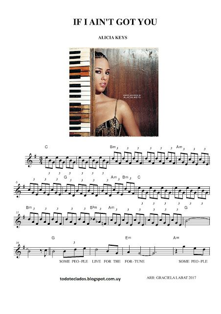 If I Ain T Got You Alicia Keys Partituras Musica Latina Y Aula