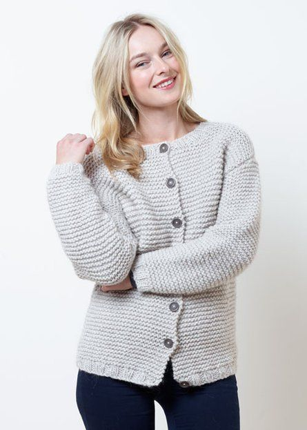 48384e923d54f Mawson ladies garter stitch cardigan - Project - Spotlight Australia ...