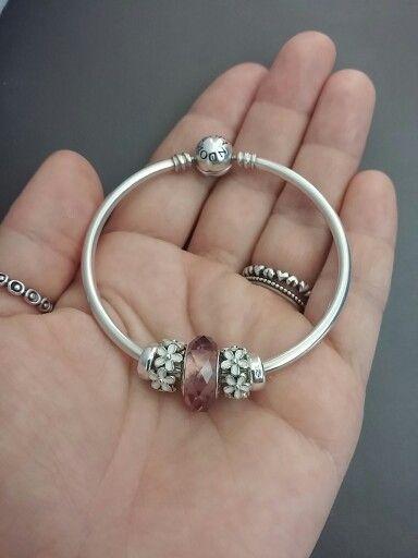 75aae10fc blush pink murano Twitter Link, Pandora Bracelets, Pandora Jewelry, Bangle  Bracelets, Fashion