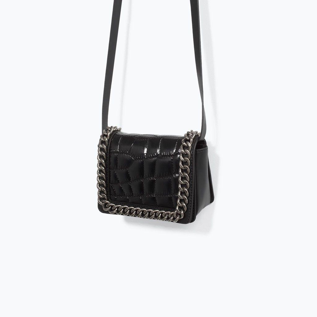 3250cc31e3d0 ZARA - WOMAN - CROC MINI CHAIN BAG | Shopping | Bags, Zara mini ...