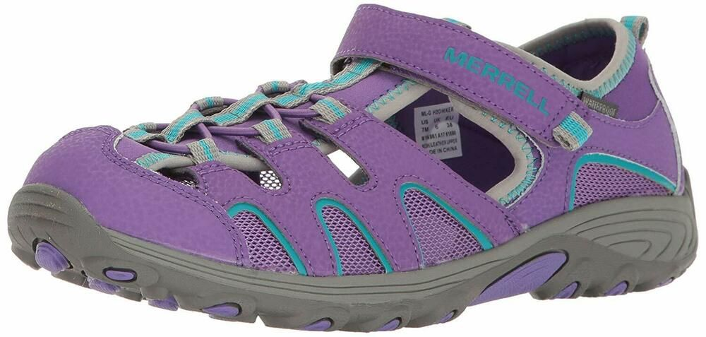 Sponsored)eBay Kids Merrell Boys H2O Leather Sport, Purple