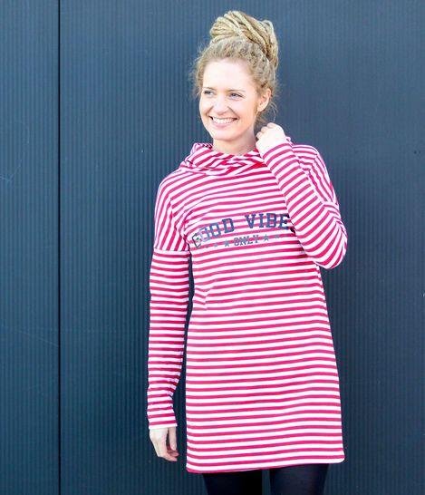 LISBETH JERSEY A-Linien-Kleid/Pullover Gr. 34-50 (mit ...
