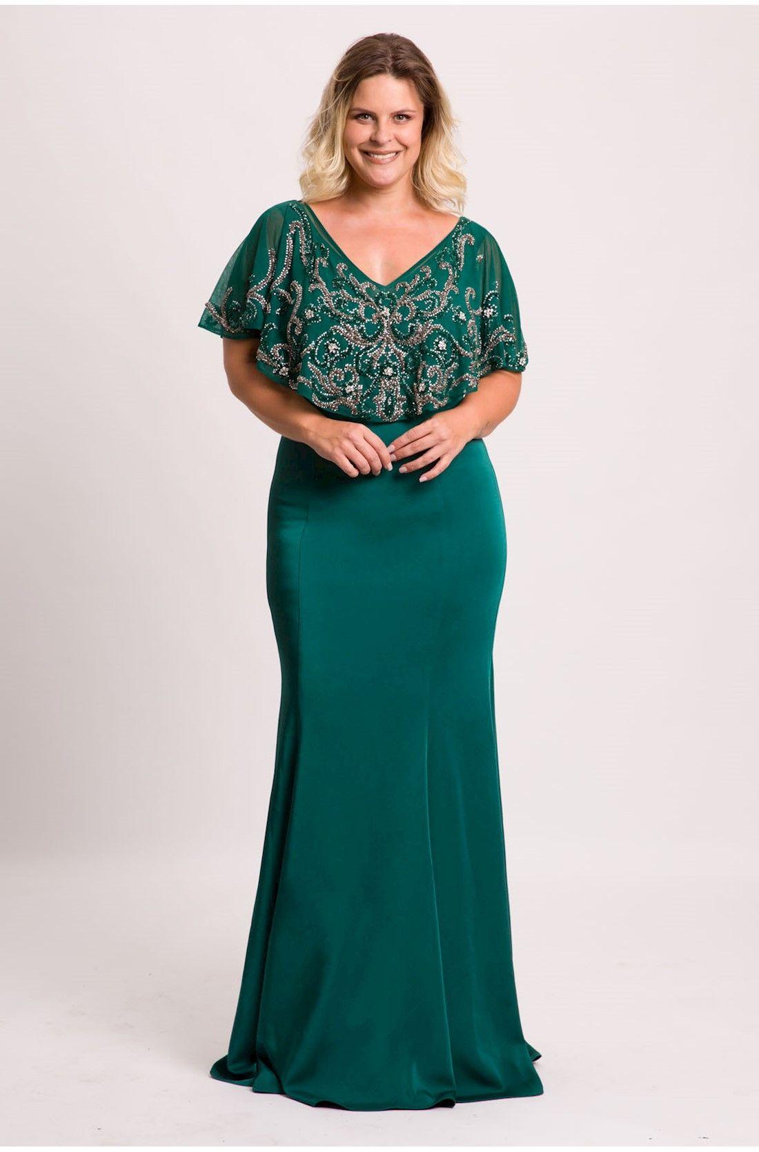 9a5262df8 Vestido Bordado Pho » Formanda Plus Size Wedding Guest Dresses