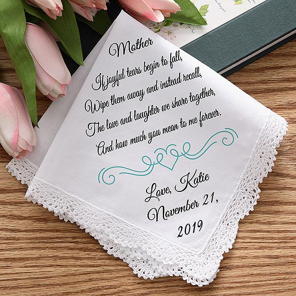 Joyful Tears Personalized Wedding Handkerchief Personalized Handkerchief Wedding Personalized Wedding Wedding Handkerchief