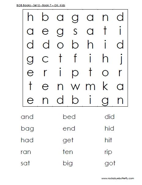 3 Letter Word Search Printable Google Search Kindergarten Word Search Bob Books 3 Letter Words
