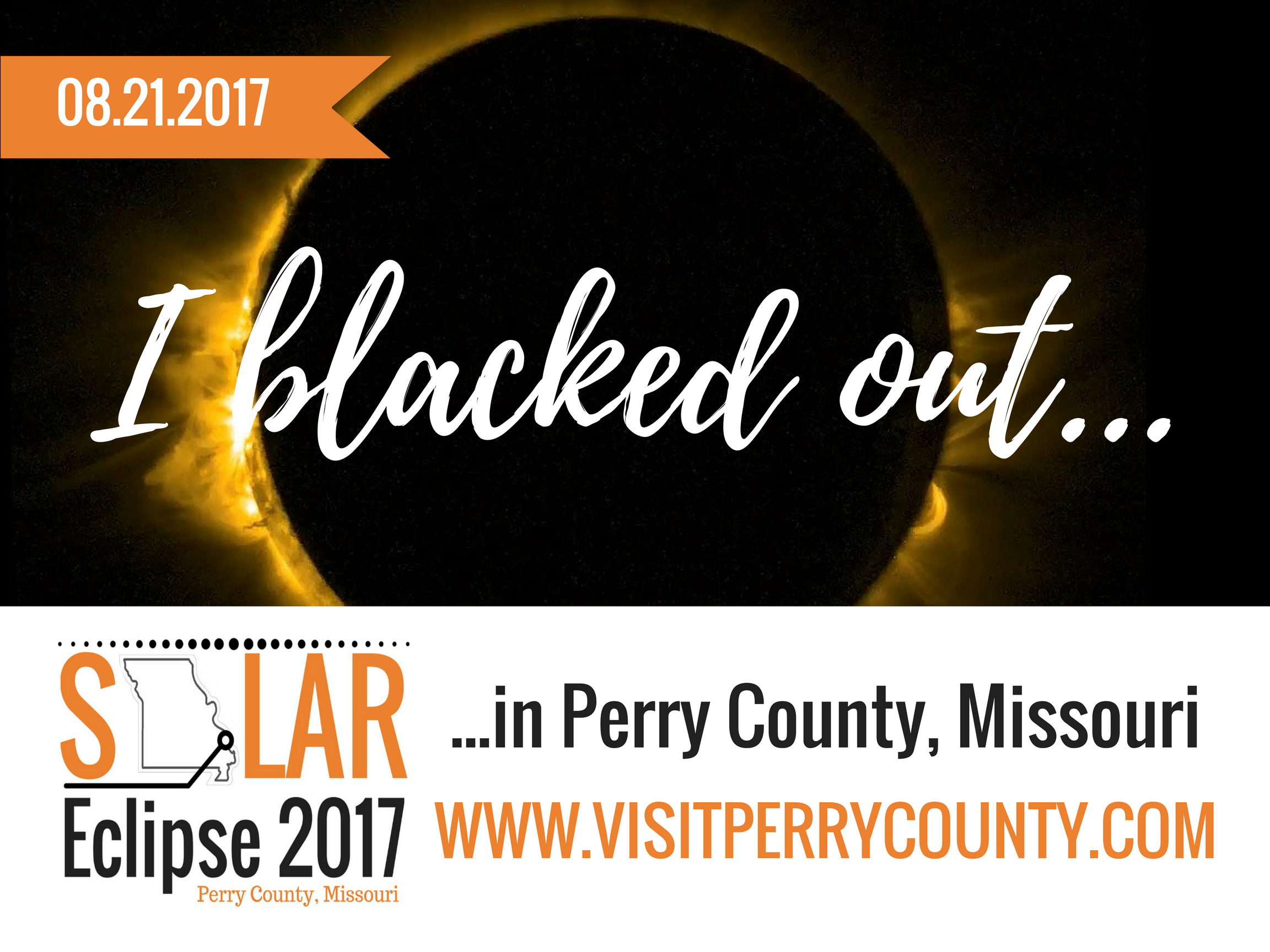 Black out in Perry County Missouri for the Total Solar Eclipse