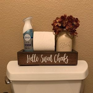 Hello Sweet Cheeks Wood Toilet Box Toilet Tray Bathroom Toilet Tray Bathroom  Hello Sweet Cheeks Wood Toilet Box Toilet Tray Bathroom Toilet Tray Bathroom Decor Bathroom...