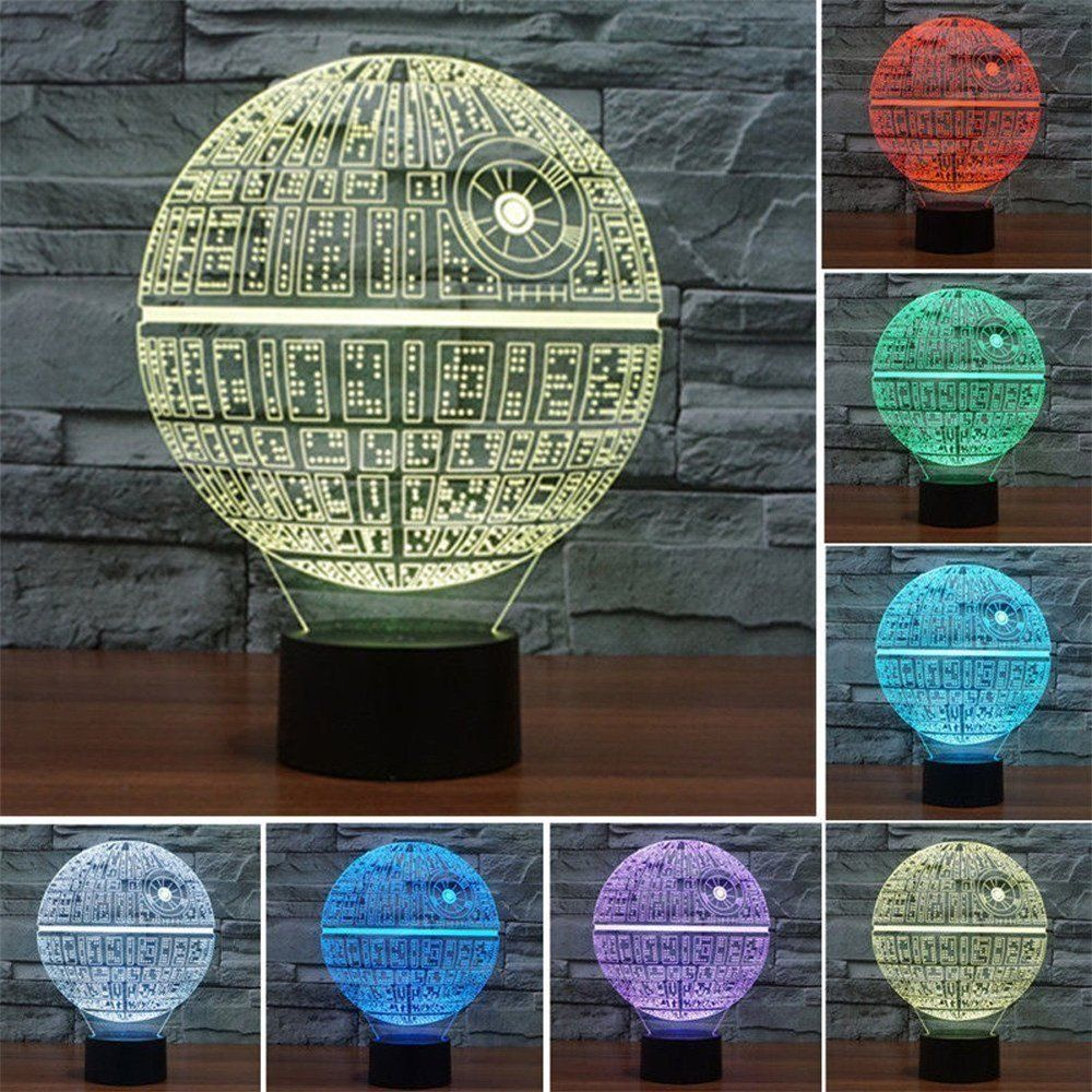 Star Wars BB8 Millennium Falcon Death Trek 3D LED Night Light Touch Switch Table Lamp