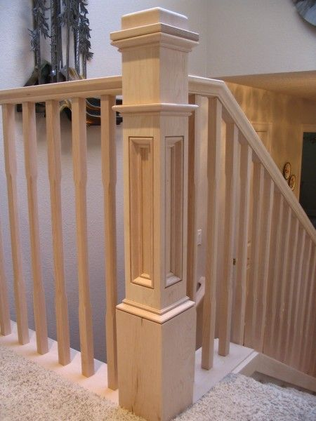 Box Newel Pretty Top Rail Rails To Outside Though And